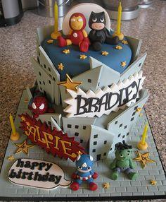 Birthday Cakes - Baby Superheroes Cake