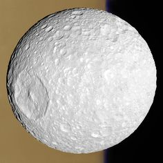 """Mimas ~ Moon of Saturn ~ Crater of All That is """"holey"""", Hollow be Thy Name!"""
