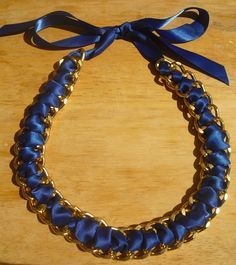 New! Elle Necklace in Cobalt Blue!