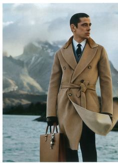 Greige against a moody sky...Exceptional cut of the Camel coat.