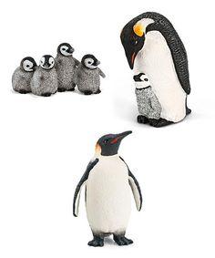 Look at this #zulilyfind! Penguins Scenery Figurine Set #zulilyfinds