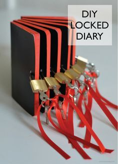 Spy / Activities and locked diary as party gift (+ link to tutorial)  Idea for Privacy Week YA craft