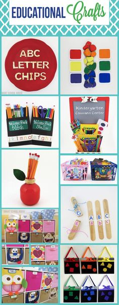 Education Crafts from www.smartschoolhouse.com #DIY #Craft #Education
