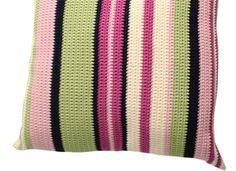 Crochet Cushion Pattern   Fun Stripes cushion pattern, fun stripe, crochet cushions