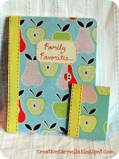 fabric covered notebooks