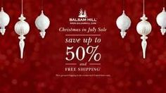 Balsam Hill #ChristmasInJuly Sale commercial on YouTube
