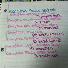 High School Musical Workout