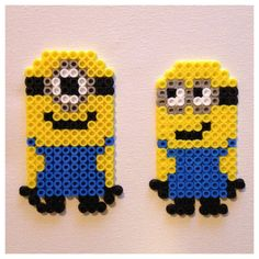 Despicable Me Minion Christmas Ornament Perler Magnets (Set of 2)