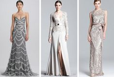 If you're just thinking of dipping your toe into the non-white wedding trend, silver is a great place to start. It's your big day so all the focus should be on you: a silver dress will stand out and show your individuality without throwing tradition out the window.  Click through to shop these dresses and more!