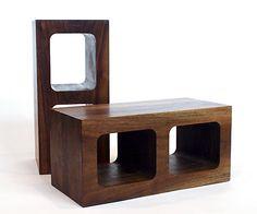 wooden cinder blocks