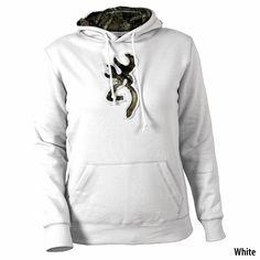 Browning Womens Buckmark Camo Hooded Sweatshirt - I WANT.