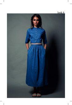 All blue. Nishka Lulla. LFW 2013