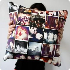 Stitchtagram: A pillow designed from your Instagram photos