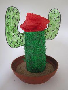 TP Roll Cactus cactus preschool, roll cactus, desert, cacti, tp roll, rolls, cowboy preschool crafts