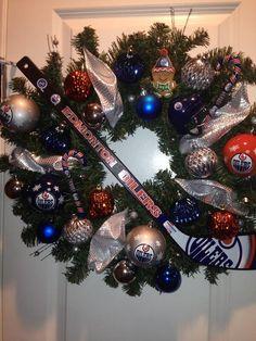 A special #HockeyHolidays wreath