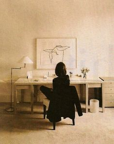 Lee Radziwell at her desk