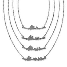 PARENT NESTLING NECKLACES | Silver Bird Pendant Necklace | UncommonGoods