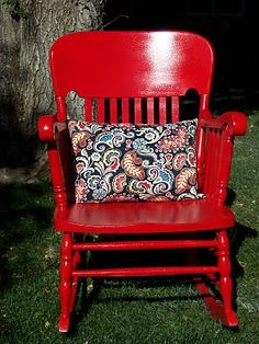 Love the idea of a brightly painted rocking chair!