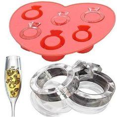 bridal shower, wedding ring ice cubes. YES