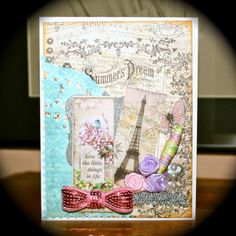 Pretty card using images from Crafty Secrets Mini Vintage Creative Scraps  - card created by Victoria's Mellifluous Musings