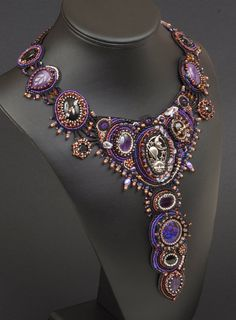 Galaxy: A Bead Embroidered Collar Necklace