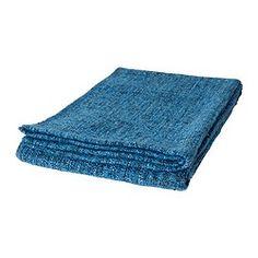 GURLI throw, blue, turquoise Length: 180 cm Width: 120 cm