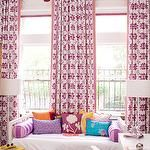 girl bedroom, little girls, curtains, colors, pink, windows, ceilings, window treatments, little girl rooms
