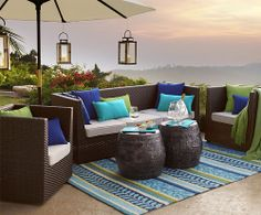 Possible makeover for my Copacabana...   Ciudad Deluxe Seating from Pier One Imports