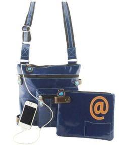 Handbags that charge your phone or tablet - fantastic travel bag!