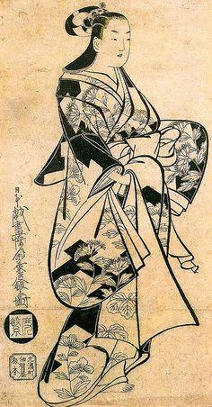 Kaigetsudo Dohan, Standing Woman, 1719