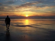 Sunset on the Pacific coast. RVing on the Olympic Peninsula