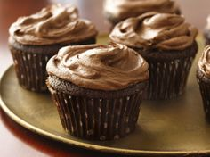 Sour cream adds rich flavor and tender texture to these classic chocolate cupcakes.