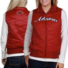 Arkansas Razorbacks Ladies Cardinal Bubble Vest