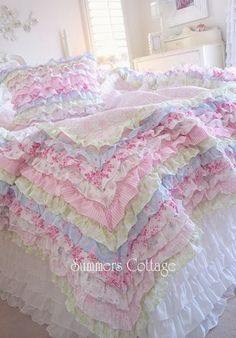 One of the most beautiful bedding sets I've ever seen !  This one is from Summer's Cottage.