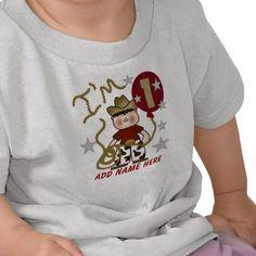 Personalized Cowboy 1st Birthday Tshirt from http://www.zazzle.com/first+birthday+tshirts