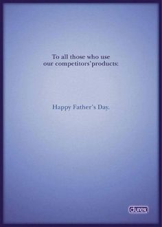 Great ad! Happy Fathers Day
