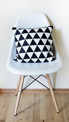 Triangle Pillow Cover by Plumed