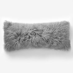 mongolian lamb throw pillow