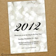 New Years invitation- ring in the new year