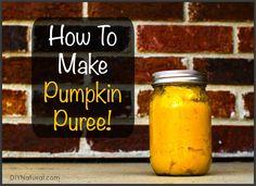 How to Make and Preserve Pumpkin Puree