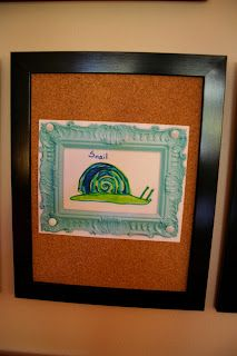 Pink and Green Mama: Displaying Children's Art Work - Gallery At Home