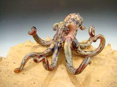 Glass Octopus Sculpture paperweight Aquarium by VortexGlassWorks, $95.00