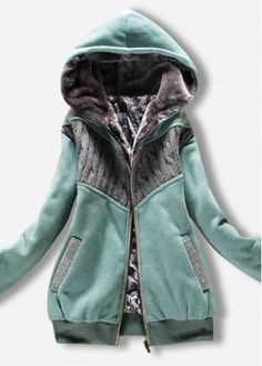 Gorgeous Long Sleeve Zipper Closure Woman Hooded Coat   Rosewe.com