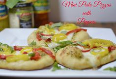 Mini pesto pizza wit