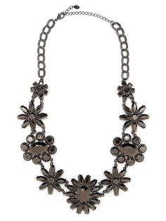 Metal Floral Collar - Necklaces - Categories - Shop Jewelry   BaubleBar