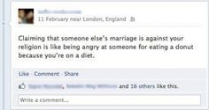 truth, funni, gay marriag, diets, true, marriage, people, quot, thing