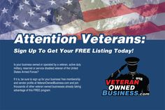 Veteran Owned Business Postcards (Front Side).
