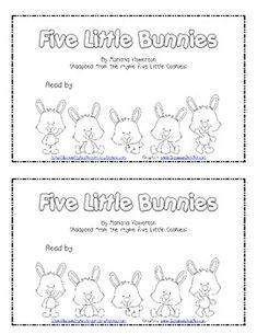 Five Little Bunnies Subtraction Emergent Reader for Easter and Math - Lil Country Kindergarten - TeachersPayTeachers.com
