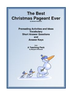 The Best Christmas Pageant Ever: A Teaching Packet (A Free Download)
