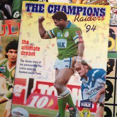 FLASHBACK: Canberra Raiders captain Mal Meninga, 1994 Premiership winners.